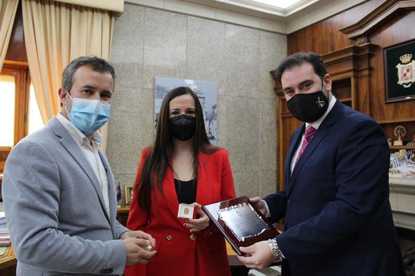 > El Ayuntamiento de Jaén ha recibido al empresario jienense Sebastián Linde